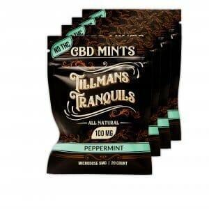 4 pack of CBD mints