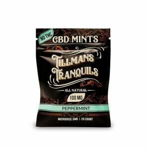 single pack of cbd mints