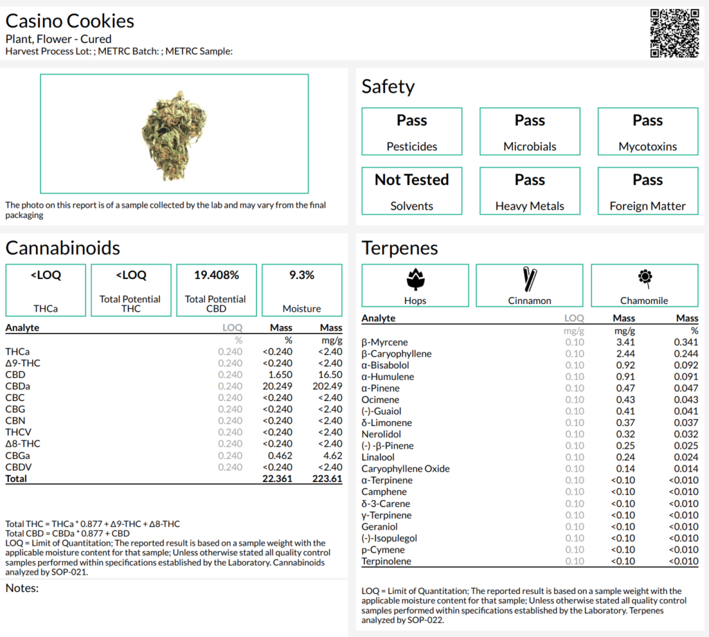 casino cookies hemp strain lab report